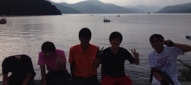 芦ノ湖到着!