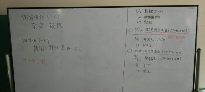 5月11日 部会報告(浜松)