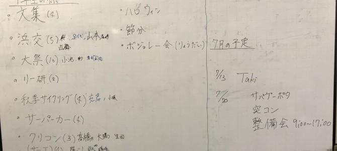 7/11 部会報告(浜松)